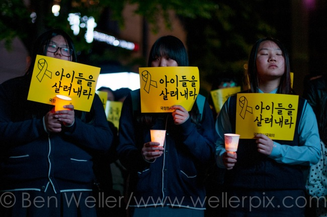 sewol, demonstration, seoul, park geun-hye, ben weller, korea photographer