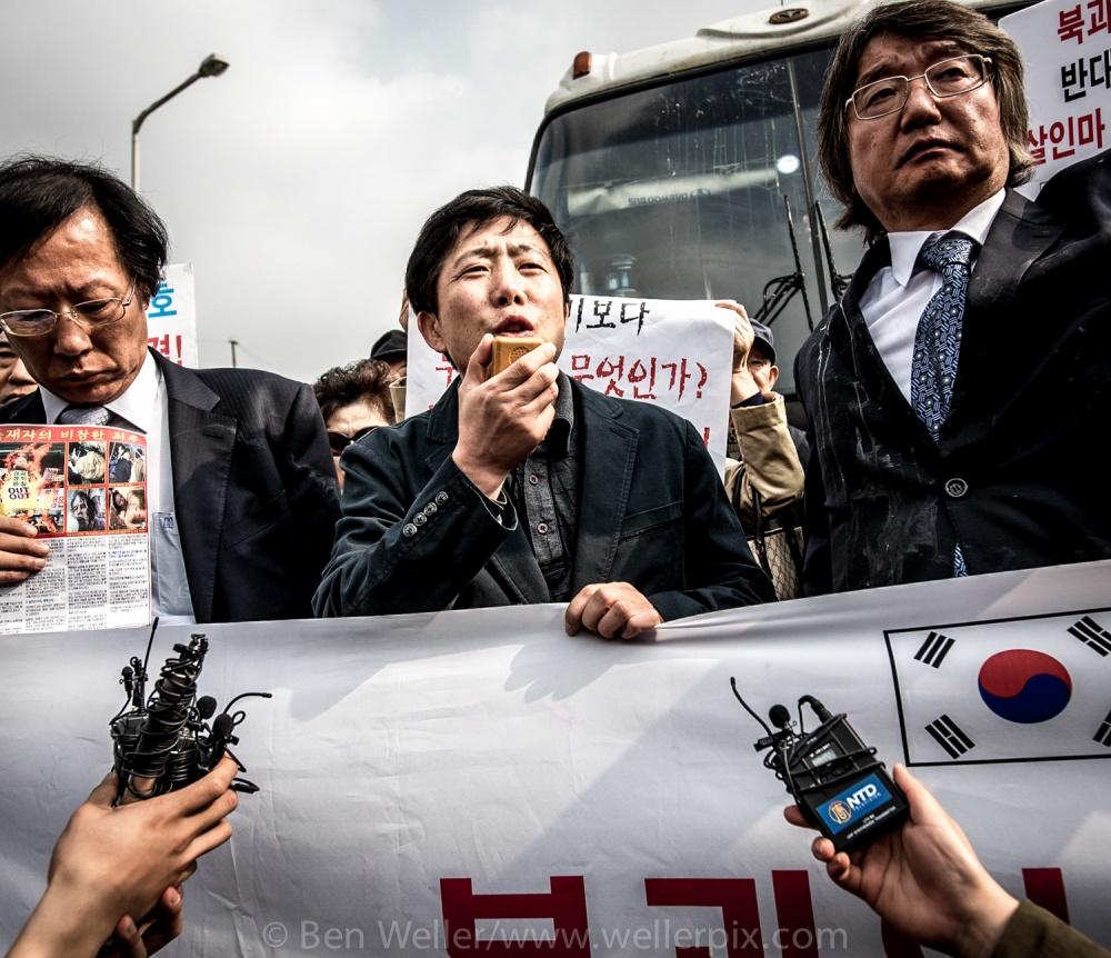 Protestors block anti-North Korea balloon launch