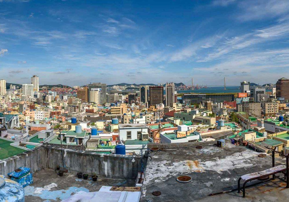 Panorama of Busan, South Korea from Ibagu-gil
