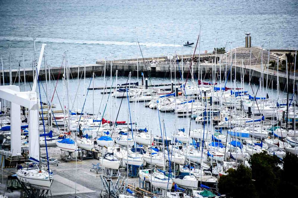 Olympic sailing events in Japan Enoshima yacht harbor, home of the 2020 Summer Japan Olympic sailing events