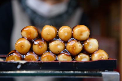 Dango sweet japanese red bean paste dessert, home of the 2020 Summer Japan Olympic sailing events