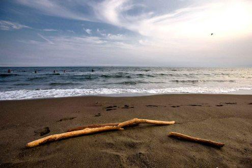 Kugenuma Beach, Shonan, Fujisawa City, Kanagawa, Japan, home of the 2020 Summer Japan Olympic sailing events