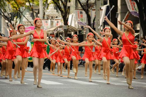 The Nagoya festival features parades on both days featuring dozens of cultural and civic groups and drawing thousands of spectators.