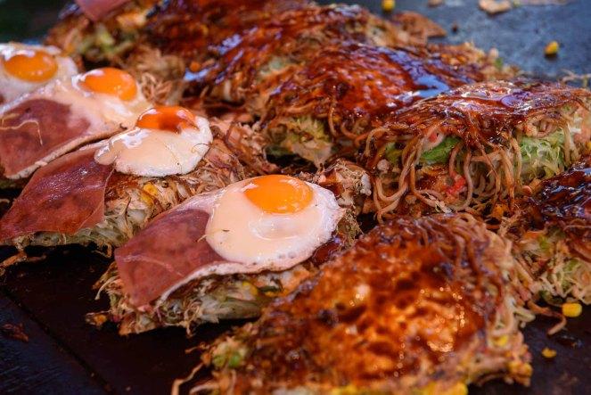 Okonomiyaki at the Nagoya Festival