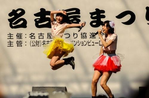 J-pop idols perform during the 2015 Nagoya Festival.
