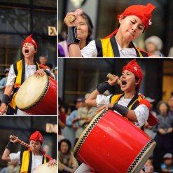 People drumming during the Nagoya Festival.