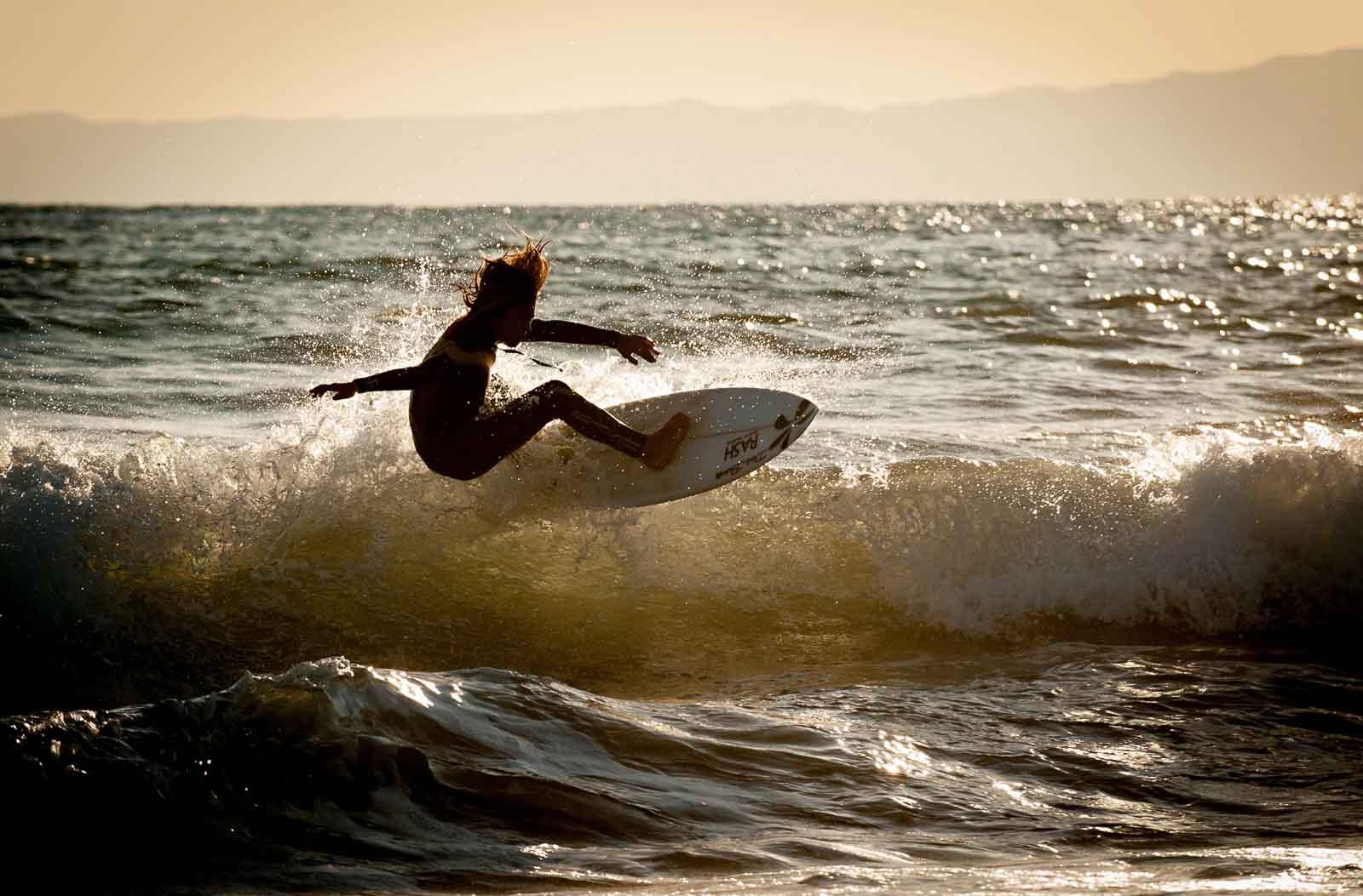 Surfer at Shonan Japan, home of the 2020 Summer Japan Olympic sailing events