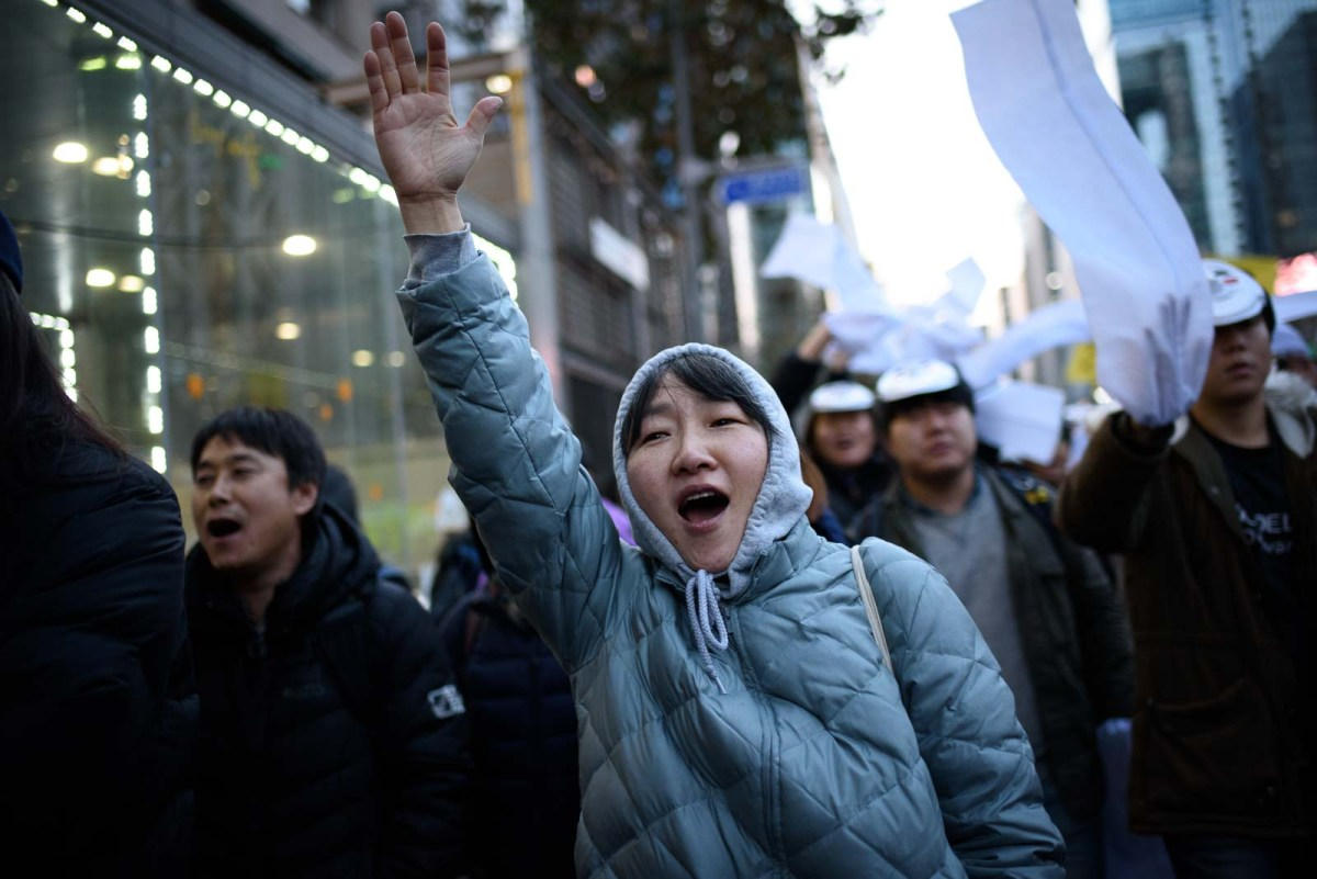 Seoul korea protests